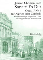 Sonate Mi Bémol Majeur Op. 17-3 Johann Christian Bach laflutedepan