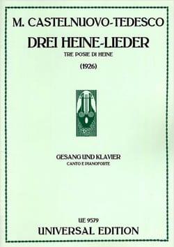 3 Heine-Lieder - Mario Castelnuovo-Tedesco - laflutedepan.com