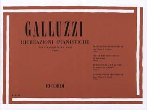 Ricreazioni Pianistiche Volume 1. 4 Mains Galluzzi laflutedepan