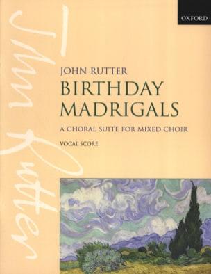 Birthday Madrigal - John Rutter - Partition - Chœur - laflutedepan.com