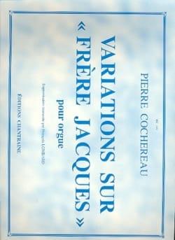 Variations sur Frère Jacques Pierre Cochereau Partition laflutedepan
