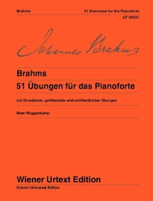 BRAHMS - 51 Ubungen - Sheet Music - di-arezzo.co.uk