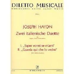 Joseph Haydn - 2 Italienische Duette - Partition - di-arezzo.fr