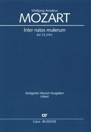 MOZART - Inter Natos Mulierum K 72 - Partition - di-arezzo.fr