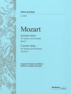 MOZART - Airs de Concert pour Soprano. Volume 2 - Partition - di-arezzo.fr