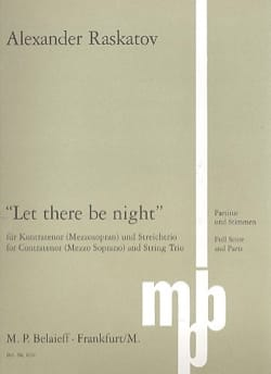 Let There Be Night Alexander Raskatov Partition laflutedepan