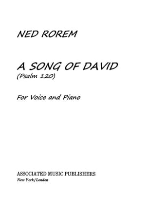A Song Of David Psalm 120 - Ned Rorem - Partition - laflutedepan.com