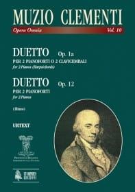 Muzio Clementi - Duet Op. 1a - Duetto Opus 12. 2 Harpsichords - Sheet Music - di-arezzo.co.uk