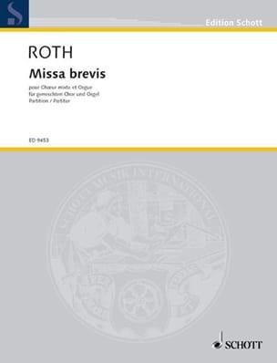 Messe Brève Daniel Roth Partition Chœur - laflutedepan