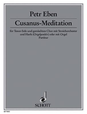 Petr Eben - Cusanus-Meditation - Partition - di-arezzo.fr