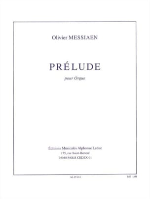 Prélude - Olivier Messiaen - Partition - Orgue - laflutedepan.com