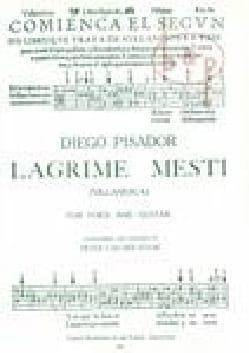 Diego Pisador - Lagrime Mesti - Partition - di-arezzo.fr