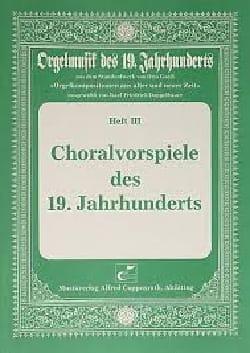 Choralvorspiele des 19 Jahrhunderts Partition Orgue - laflutedepan