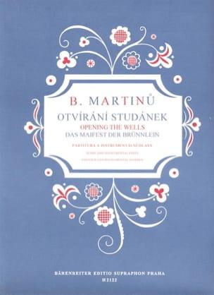 Bohuslav Martinu - Otvirani Studanek - Partition - di-arezzo.fr