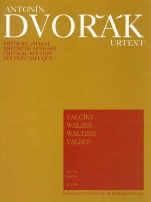 Anton Dvorak - Valses Opus 54 - Partition - di-arezzo.fr