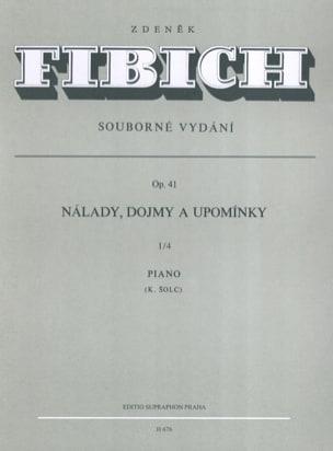 Zdenek Fibich - Moods, Impressions... Op. 41. Vol 1/4 - Partition - di-arezzo.fr