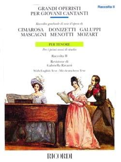 - Grandi Operisti Per Giovani Cantanti Volume 2. Ténor - Partition - di-arezzo.fr