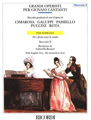 - Grandi Operisti Per Giovani Cantanti soprano Volume 2. - Partition - di-arezzo.fr