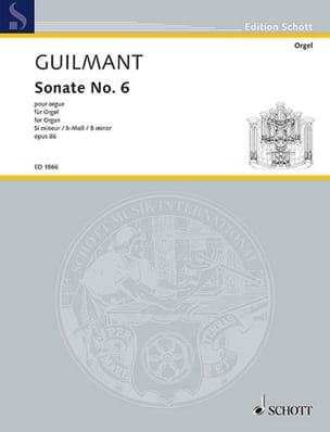Sonate N° 6 Si mineur Opus 86 - Alexandre Guilmant - laflutedepan.com