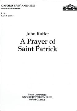 John Rutter - A Prayer of Saint Patrick - Sheet Music - di-arezzo.co.uk