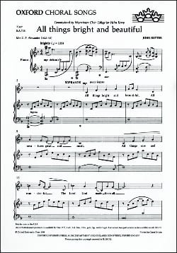 All Things Bright And Beautiful - SATB RUTTER Partition laflutedepan