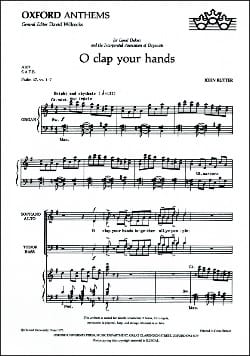 John Rutter - O Clap Your Hands - Partition - di-arezzo.fr