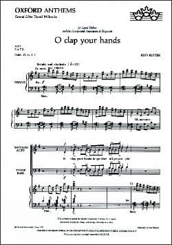 O Clap Your Hands RUTTER Partition Chœur - laflutedepan