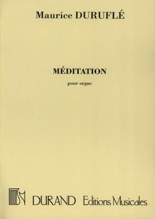 Maurice Duruflé - Méditation. - Partition - di-arezzo.fr