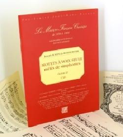 de Boismortier Joseph Bodin - Motets A Voix Seule Mêlés de Symphonies Op. 23 - Partition - di-arezzo.fr