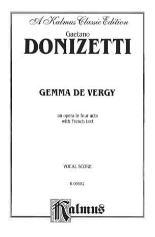 Gaetano Donizetti - Gemma of Vergy - Sheet Music - di-arezzo.com