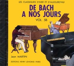 DE BACH A NOS JOURS - バッハから現代まで - 第5B巻 - CD - 楽譜 - di-arezzo.jp