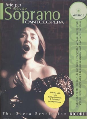 Arie Per Soprano Volume 3 Partition Opéras - laflutedepan
