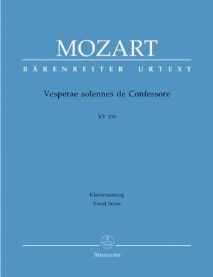 MOZART - Vêpres Solennelles d'un Confesseur - K 339 - Partition - di-arezzo.fr