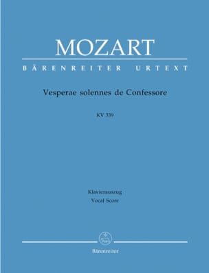 MOZART - Solemn Vespers of a Confessor - Sheet Music - di-arezzo.com