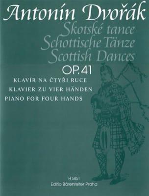 Anton Dvorak - Danses Ecossaises Op. 41. 4 Mains - Partition - di-arezzo.fr
