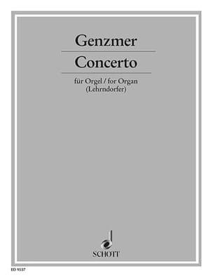 Concerto - Harald Genzmer - Partition - Orgue - laflutedepan.com