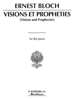 Ernest Bloch - Visions et Prophéties - Partition - di-arezzo.fr