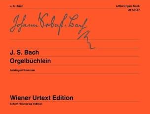 BACH - Orgelbuchlein. - Partition - di-arezzo.fr