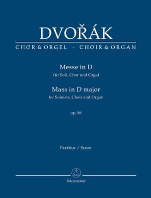 DVORAK - Mass in D major - Sheet Music - di-arezzo.co.uk