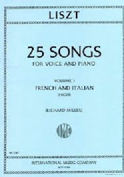 25 Songs Volume 1. Voix Haute Franz Liszt Partition laflutedepan