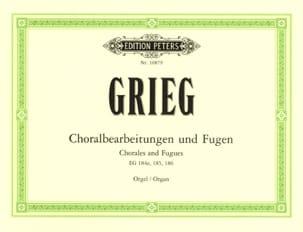 Edward Grieg - Choralbearteitungen Und Fugen - Partition - di-arezzo.fr