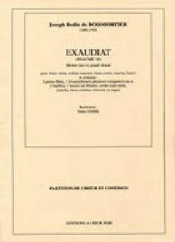 BOISMORTIER - Exaudiat. Conducteur - Partition - di-arezzo.fr
