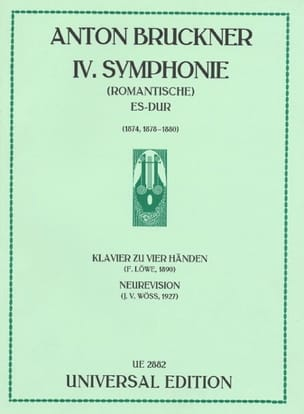 Anton Brückner - Symphony No. 4 Romantic. 4 Hands - Sheet Music - di-arezzo.co.uk