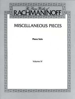 RACHMANINOV - Miscellaneous Pieces - Sheet Music - di-arezzo.com