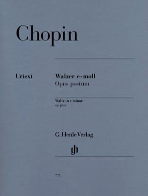 Valse En Mi Mineur Posthume - Frédéric Chopin - laflutedepan.com