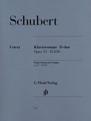Franz Schubert - Sonate pour piano en Ré majeur op. 53 D 850 - Partition - di-arezzo.fr