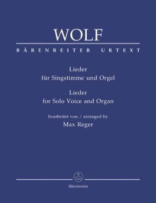 Hugo Wolf - Lieder Für Singstimme Und Orgel - Partition - di-arezzo.fr