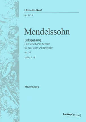 MENDELSSOHN - Lobgesang Opus 52 - Sheet Music - di-arezzo.co.uk
