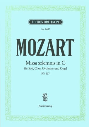 MOZART - Missa Solemnis KV 337 - Messe solennelle en DO Majeur - Partition - di-arezzo.fr
