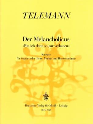 TELEMANN - Der Melancholicus. Twv 20-44 - Partition - di-arezzo.fr